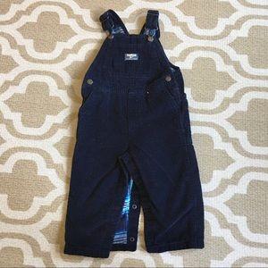 ✴️4/$15 Oshkosh blue corduroy overalls 18-24m